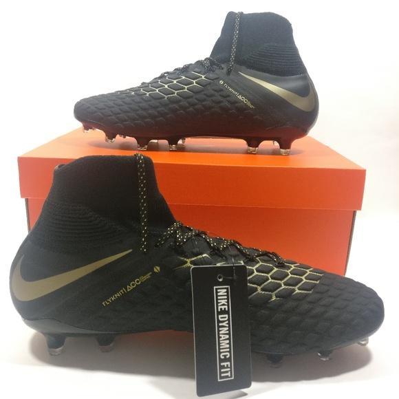 bdac8e395b7314 Nike Hypervenom 3 DF FG Soccer Cleats Black Gold